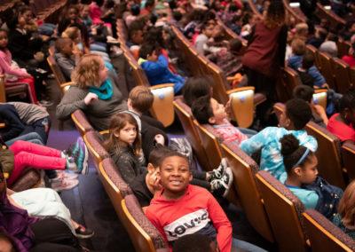 Children eagerly await Cinderella Matinee Performance